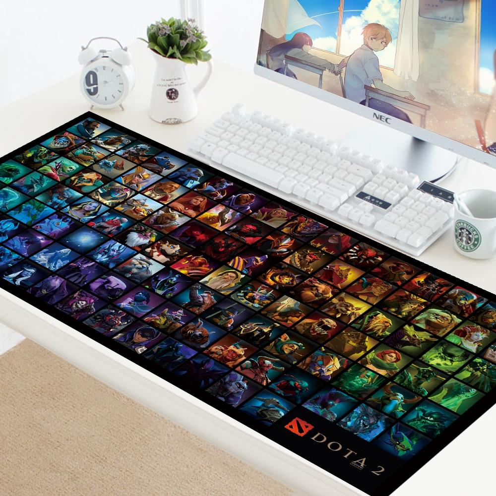 Mousepad DOTA LOGO XL Large Mouse Pad Locking Edge Rubber Laptop DOTA2 Computer Gamer PC Play Keyboard Mouse Mats Pad For Csgo