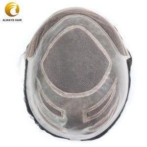 Image 2 - Perruque toupet naturelle 130% cheveux humains