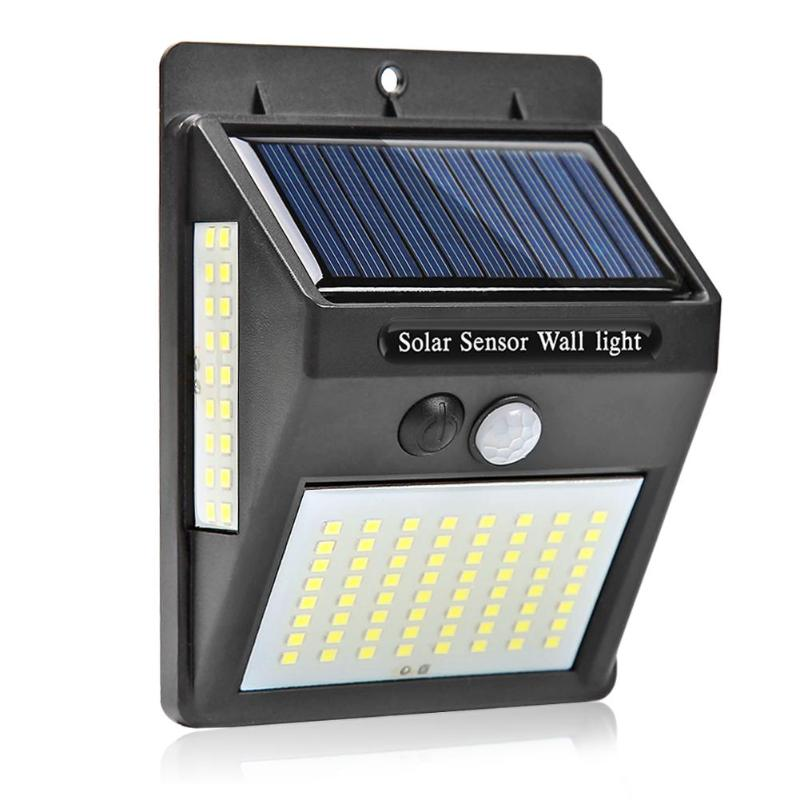 100 LEDs Solar Panel LED Flood Security Solar Garden Light PIR Motion Sensor Path Wall Lamps Outdoor Emergency Waterproof Lamp