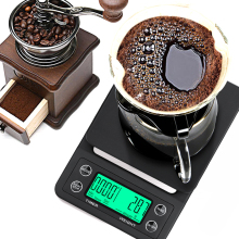Mini LCD Digital Electronic Drip Coffee Scale with Timer Portable Electronic Digital Kitchen Scale High Precision LCD Scales 50g 0 001g high precision digital electronic scale laboratory medical balance lcd display portable personal jewelry scales