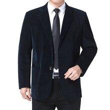 Male Blazer Costume Casual-Suit Men Jacket Striped Single-Breasted Autumn Masculino
