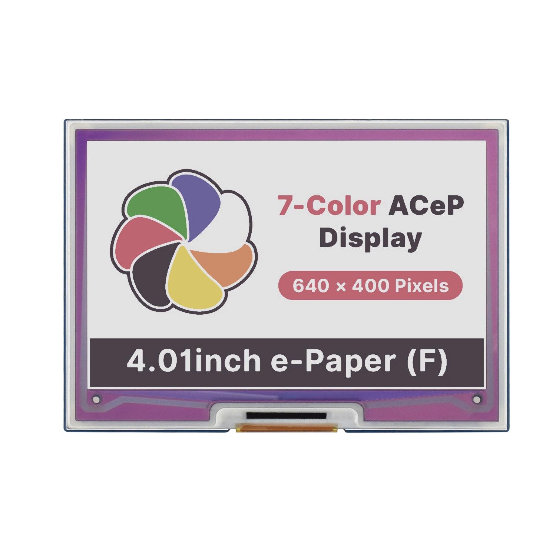 4.01inch 3.3V 5V Color Epaper Eink E-Ink Display Screen Module HAT for Raspberry Pi RPI Zero W WH 3B Plus 4 Jetson Nano Arduino