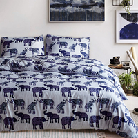 Cartoon Animals Printing Bedding Set Comforter Cover Duvet Cover Set Soft Polyester Pillow Case Bed Set Twin Queen King Size