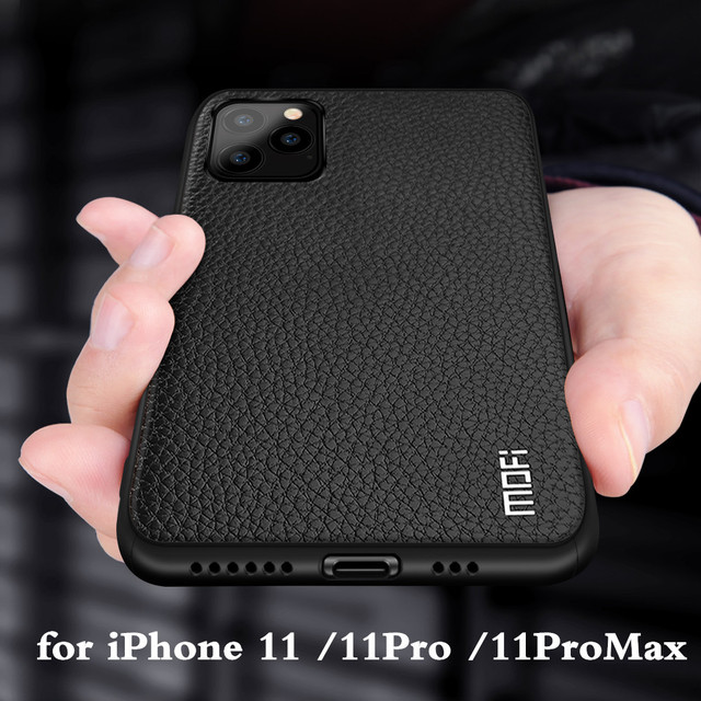 Cho Iphone 11 Ốp Lưng cho Apple 11 Pro 11 Pro Max Nhà Ở MOFI Silicone Chống Sốc 11pro Capa 11 vợt cầu lông Promax Da PU Coque