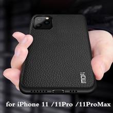 Funda de silicona a prueba de golpes para iPhone 11 Pro Max, funda de silicona MOFi, funda 11 Pro, promax, Funda de cuero PU