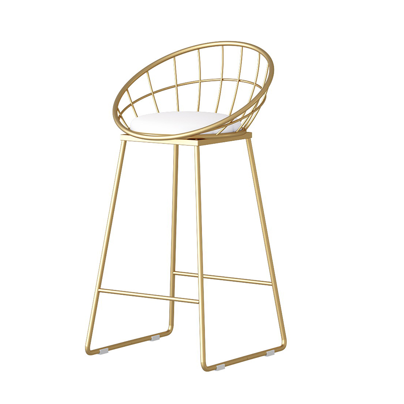 Simple Bar Stool Wrought Iron Bar Chair Golden High Chair Chair Lounge Chair Nordic Bar Chair Bar Stool