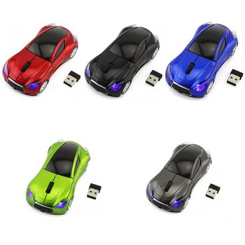 2.4GHz Wireless Cordless Car Shaped Mouse Mice with USB Receiver for PC Computer Laptop Accessories image