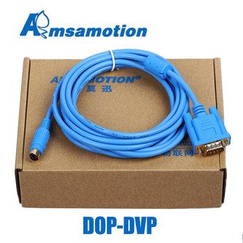 DOP-DVP dla Delta DOP-B serii HMI w odniesieniu do Delta rozrachunku typu dostawa za płatność PLC serii 9-pin męski i okrągłe 8-pin kabel tanie i dobre opinie AMSAMOTION DOP-DVP DOP-XC Izolowane Stranded Miedzi