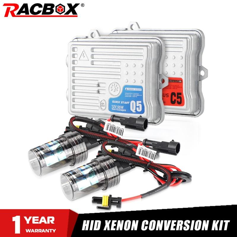AC 55W Fast Start Ballast HID Bulb Car Xenon Headlight Retrofit Conversion Kit H1 H3 H7 H11 9005 HB3 9006 HB4 6000K 4300K 8000K
