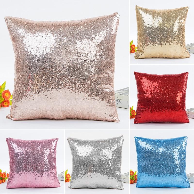 Sequin Pillow Cover Glitter Sofa Cushion Pillowcase Home Decor 40cm*40cm