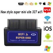 MINI ELM327 V1.5/V2.1 Wifi/Bluetooth Auto Obdtool skaner narzędzie diagnostyczne do samochodów ELM327 dla androida/Symbian dla protokołu OBDII