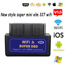 Mini elm327 v1.5/v2.1 wifi/bluetooth ferramenta diagnóstica elm327 do carro do varredor do obdtool para android/symbian para o protocolo de obdii