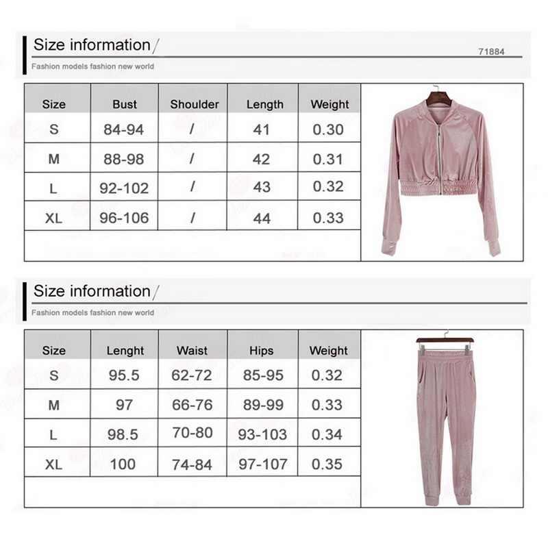 CYSINCOS 2019 İlkbahar sonbahar kadın setleri spor moda kadife eşofman Hoodie 2 adet şerit kazak pantolon eşofman takımlar