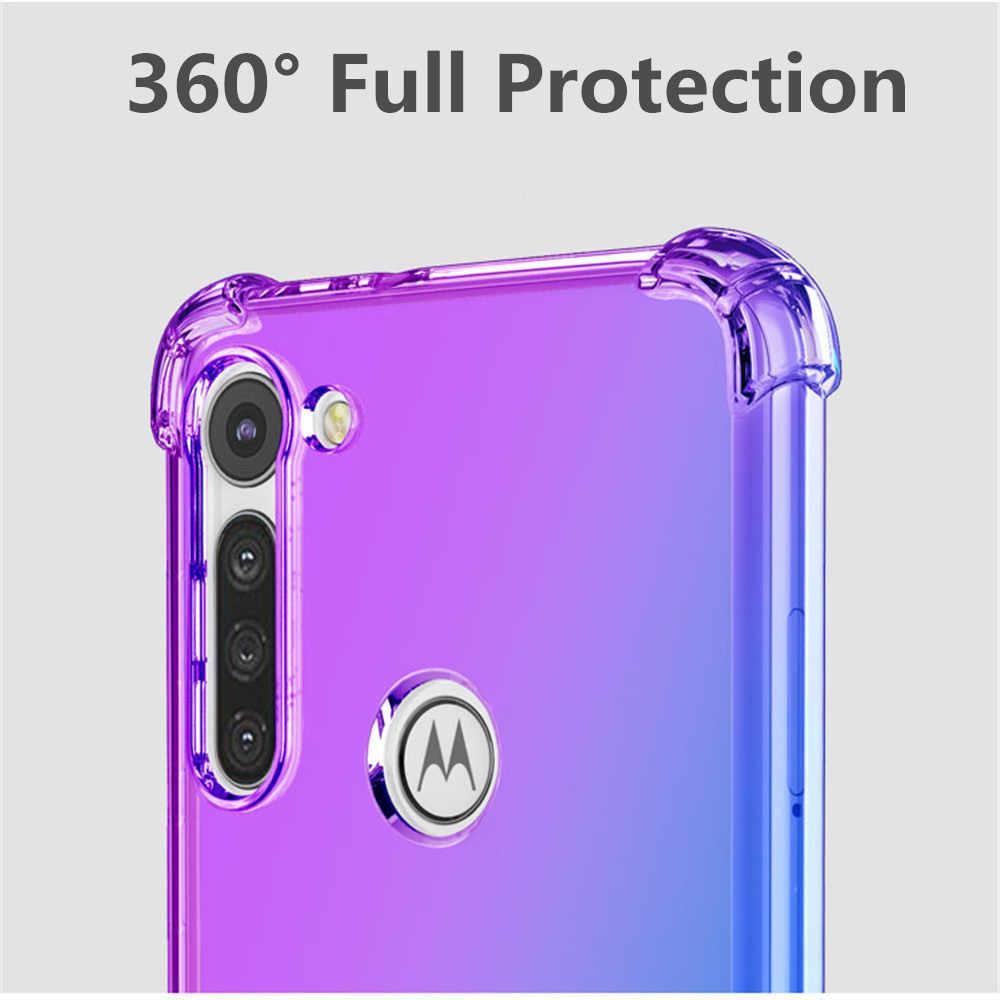 Funda para Motorola Moto trasera G8 Power E6 G8 Plus, colorida y a prueba de golpes, lujosa carcasa trasera de silicona TPU para Moto E6 Plus G8 Play Capa
