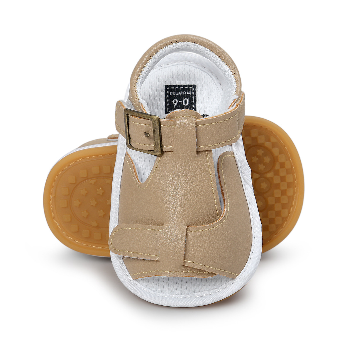 B&G Baby Boy Summer Sandalsbreathbale Canvas Todler Shoes Soft PU Beach Shoes Anti-slip First Walkers