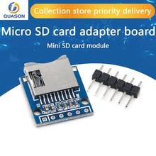 10 sztuk/partia Micro SD rozszerzenie pokładzie Mini Micro SD TF karty pamięci tarcza moduł z pinami dla Arduino ARM AVR