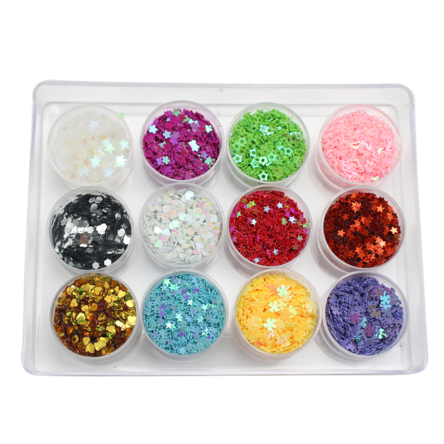 Lucia crafts Mixed 24 Colors Flake Confetti   Rainbow Cup Sequin Paillette For  Wedding DIY Nail Art  Decor D0204 3