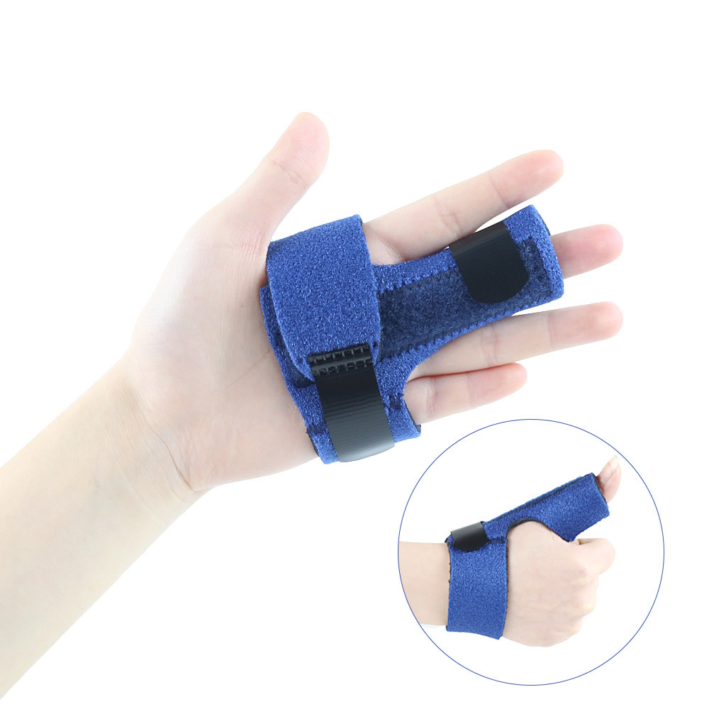 Cross Border For Metal Supporting Plate Men And Women Thumb Curved Fracture Sprain Finger Fixing Band Protective Case