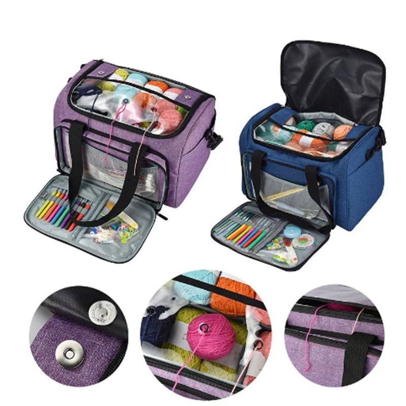 1PCS Knitting Needles Sewing Set DIY Storage Bag Crochet Hooks Thread Yarn Storage Bag DIY Organizer Holder Wool Crochet Hooks