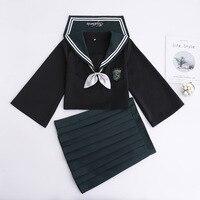 2PCS Japanese Pretty Girl JK Sailor Suit Women Cosplay College School Student Uniform Costumes B65288AD