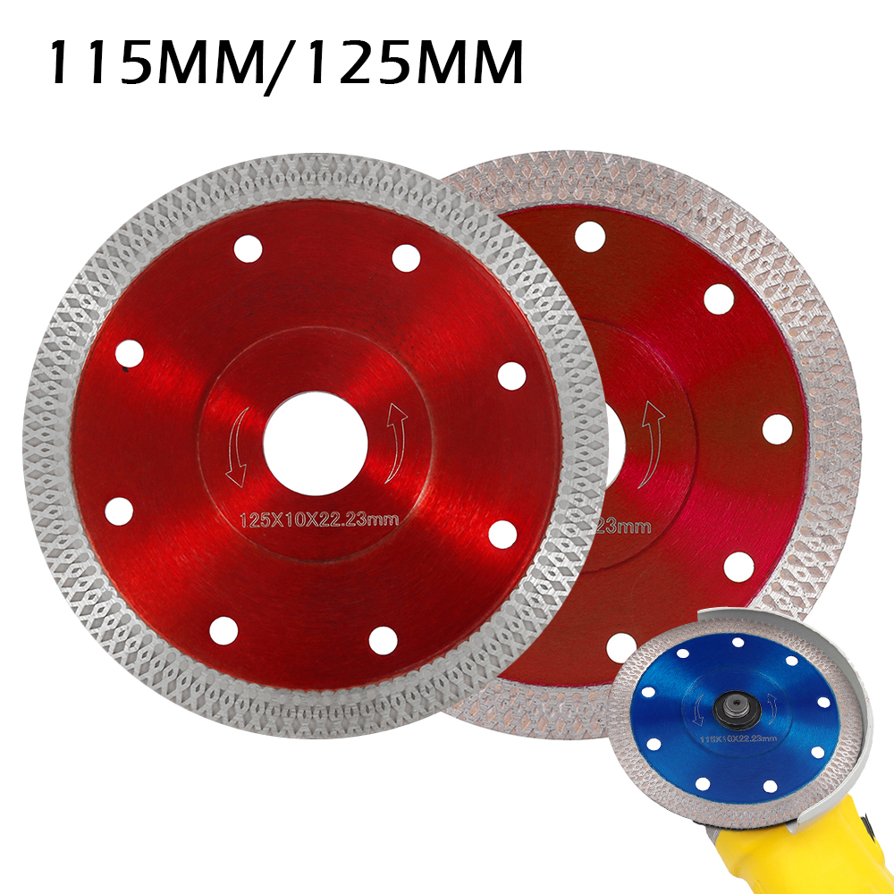 115/125 Mm Porcelain Tile Turbo Thin Diamond Dry Cutting Blade Disc Grinder Wheel