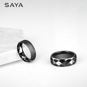 Image 1 - แหวนผู้ชาย,สีดำเซรามิคโดมวงแหวนสำหรับงานแต่งงานงานหมั้นกว้าง 7 มม.,จัดส่งฟรี,ที่กำหนดเอง