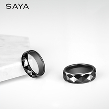 Men Ring, Black Ceramic Dome Band Ring for Party Wedding Engagement 7mm Width, Free Shipping, Customized