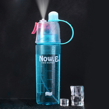 New Creative Spray Water Bottle Portable Atomizing Bottles Outdoor Sports Gym Drinking Drinkware Shaker 400ML 600ML