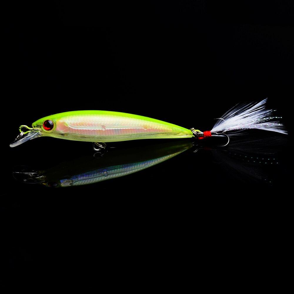 Best Sellers Minnow 9cm 7.2g Fishing lure wobbler Artificial Plastic Feather Crankbait Tackle 1pcs
