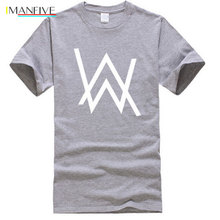 New Fashion Music DJ Divine Comedy Alan Walker Print T-Shirt Men Hip Hop short sleeve Cotton Casual Mens tshirts tops S-XXL