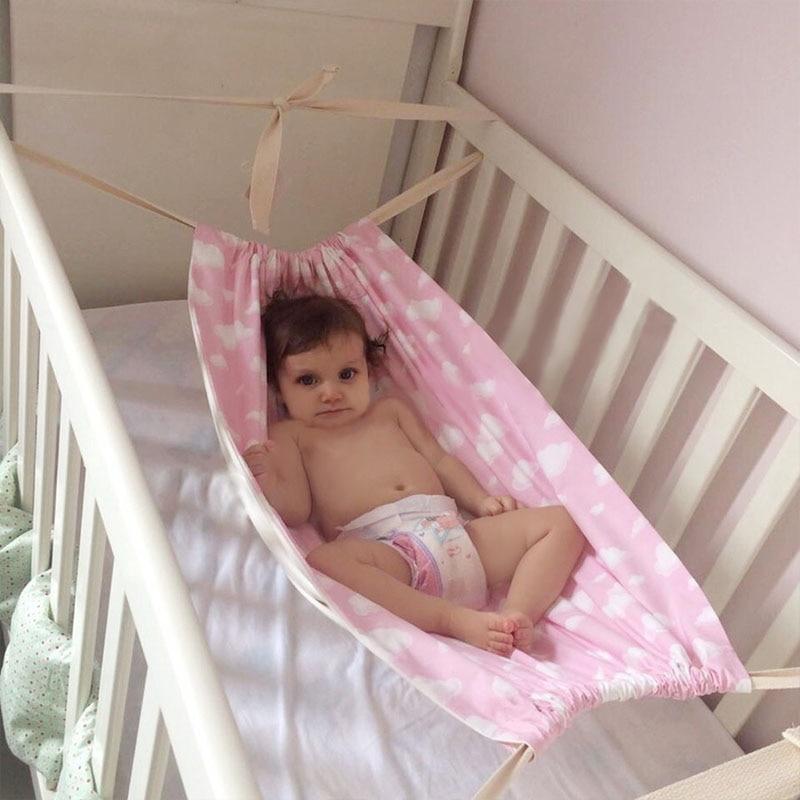 INS Baby Hammock Newborn Baby Sleeping Bed Infant Detachable Portable Folding Crib Travel Cot Home Outdoor Hammock Swing