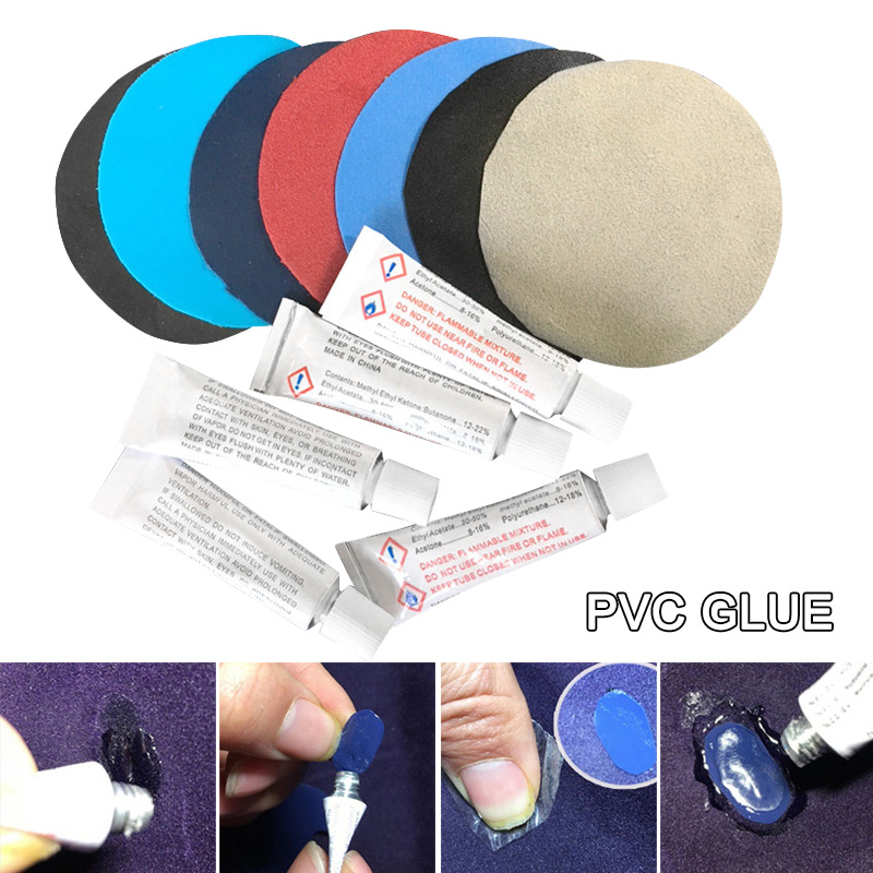 High Quality  PVC Glue For Air Mattress Inflating Air Bed Boat Sofa 10PCS Repair Kit Patches Glue C55K Sale