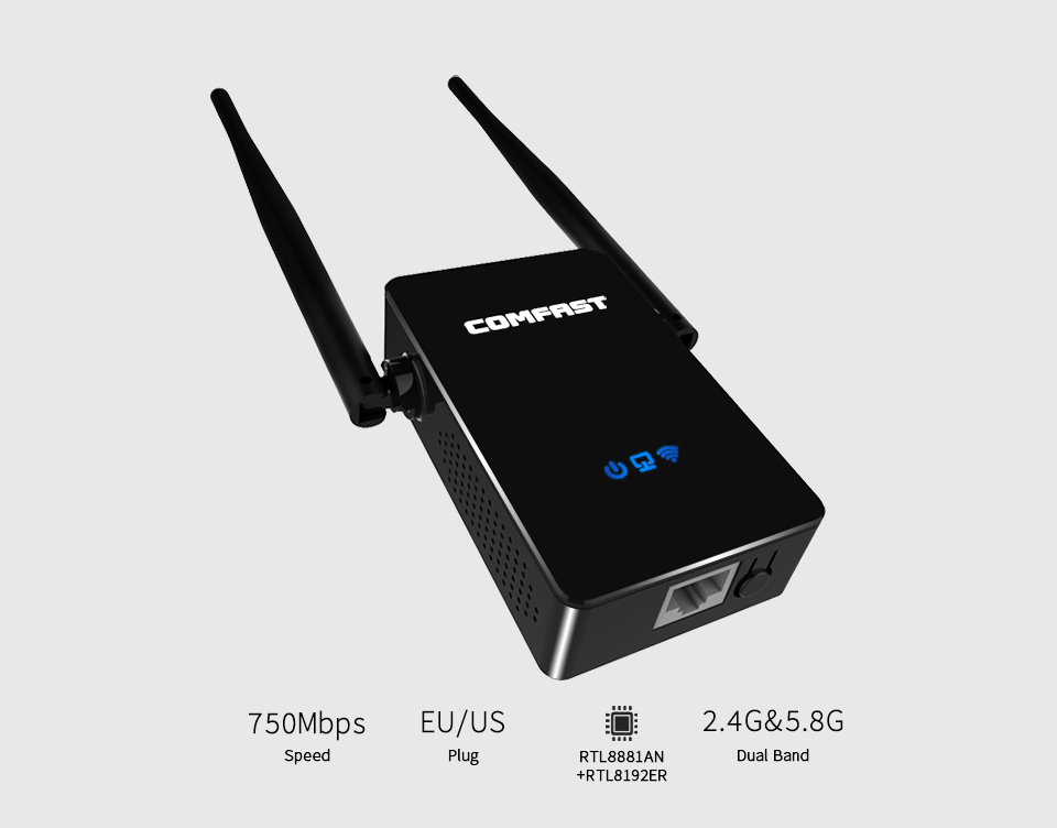 Roteador COMFAST AP+repeater+router Three-in-one 750Mbps 802.11N Portable WIFI Repeater/wifi Router Wifi Adapter Rj45