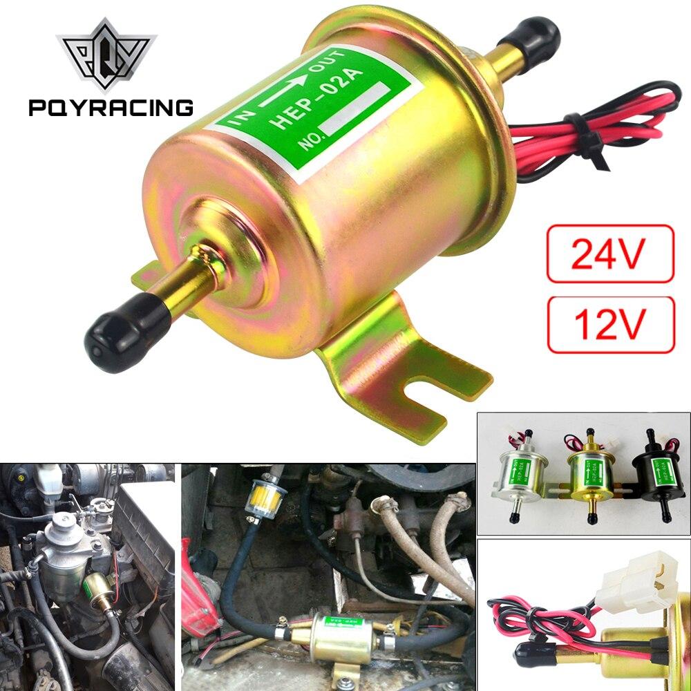 Novo 12 v 24 v bomba de combustível elétrica baixa pressão parafuso fixação fio diesel gasolina HEP-02A para carro carburador motocicleta atv