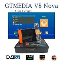 цена на Satellite finder Gtmedia V8 NOVA HD 1080P DVB-S2 for 1 Year Europe 7 Lines Built -in Wifi Dongle Satellite Receiver CCCAM