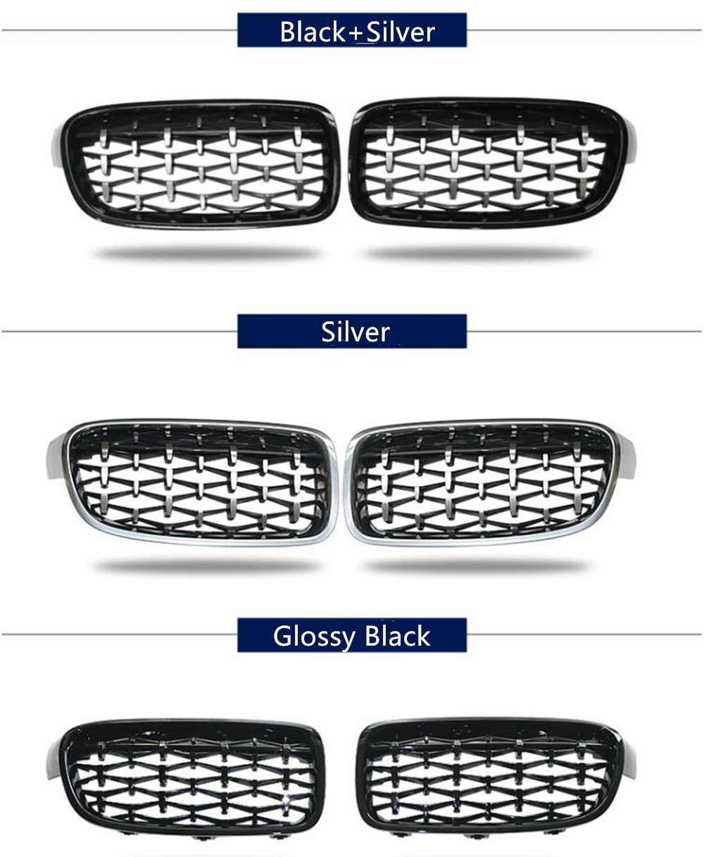 Top Quality A Pair Kidney <font><b>Grill</b></font> Racing Grille For Bmw F10 F18 F30 F35 <font><b>G30</b></font> G38 X1 X3 X4 X5 X6 Car Tuning Front <font><b>Grills</b></font> image
