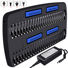 цена на 48 slots multi charger aa aaa smart fast chargers for 1.2V aa aaa ni-mh battery