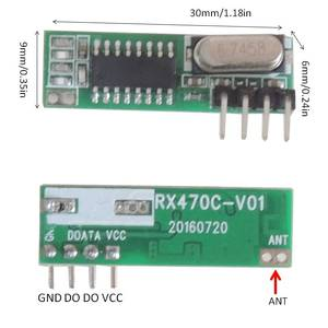 Image 2 - Módulo receptor RF superheterodino de 433 Mhz y módulo transmisor con antena para Arduino DIY Kit 433 Mhz controles remotos