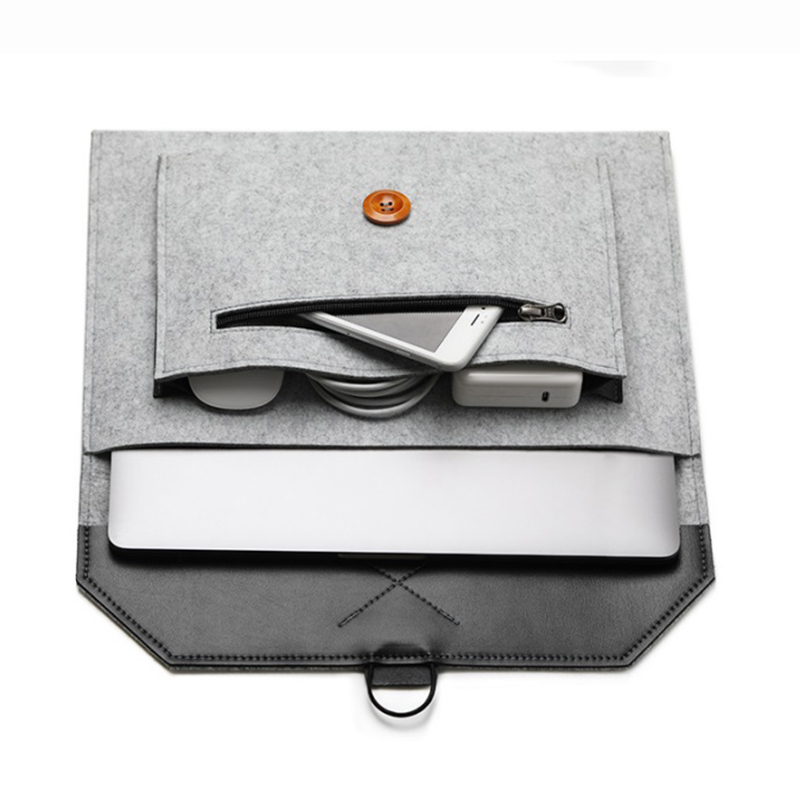 11 12 13 15 Fashion Wool Felt Laptop Sleeve Bag Notebook Handbag Case For Macbook Air Pro Retina Lenovo Asus HP Laptop Liner Bag (18)