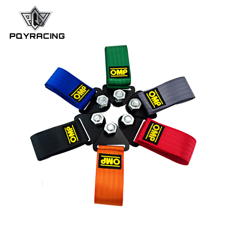 OMP Towing Rope High Strength Nylon OMP JDM Trailer Tow Ropes Racing Car Universal Tow Eye Strap Tow Strap Bumper Trailer