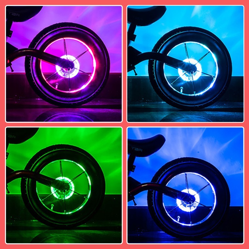 7 Color Balance Car Hub Light 18 Mode Bicycle Wheel Light Smart LED Bicycle Wheel Light Kids Balance Bicycle Accessories