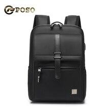 New 15.6 Inch Laptop Backpack Mens Backpacks Business Notebook Mochila Waterproof Back Pack USB Charging Black Travel Bagpack