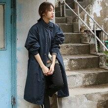 Chic Womens Fashion Long Loose Coat Jacket Trench Windbreaker Parka Outwear New