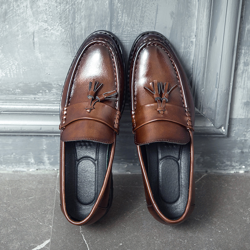 Men Dress Shoes Handmade Brogue Style Paty Leather Wedding Shoes Men Flats Leather Oxfords Formal Shoes