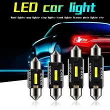 Светодиодный светильник CSP 31 мм 36 мм 39 мм 41 мм C5W C10W, супер яркий автомобильный купольный светильник Canbus, без ошибок, с двойным наконечником
