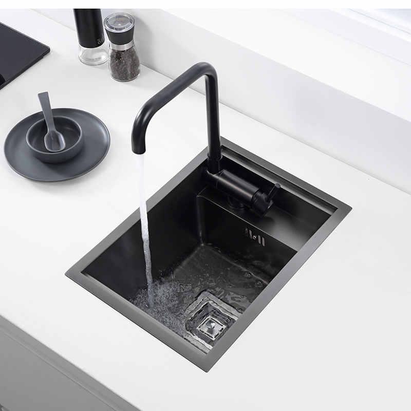 Hidden Black Kitchen Sink Single Bowl Bar Small Size Sink Stainless Steel Balcony Sink Concealed Black Kitchen Sink Bar Sink Kitchen Sinks Aliexpress