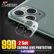 2 шт./лот, прозрачная задняя крышка для объектива камеры, защитная пленка, закаленное стекло для iPhone 11 Pro XS Max X XR 8 7 6 6S Plus