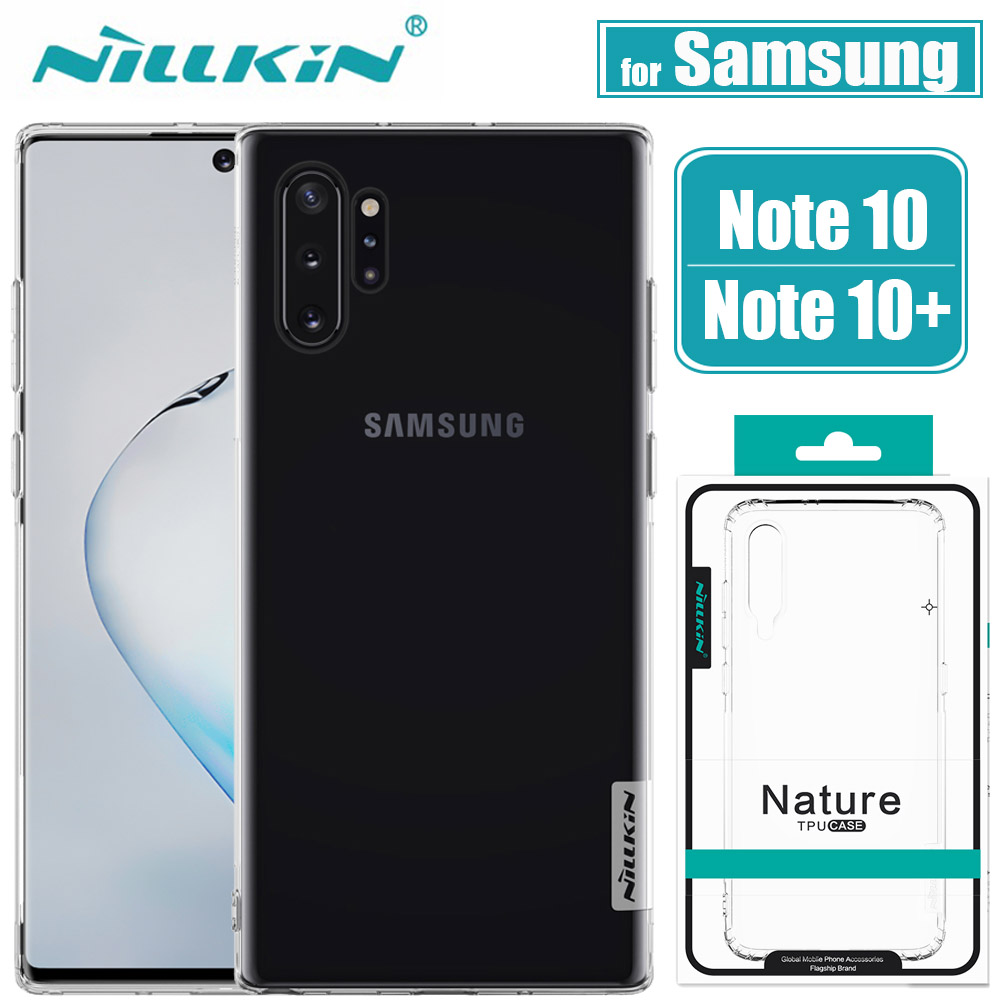 Nillkin Cover Phone-Back-Case Note 10-Plus case Soft-Silicone Samsung Galaxy for Clear