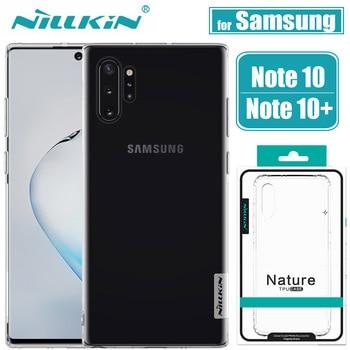 Чехол для Samsung Galaxy Note 10 Plus S20 Ультра чехол Nillkin Мягкий Силиконовый ТПУ прозрачные задние Чехлы для Samsung S20 Note10 Plus Capa
