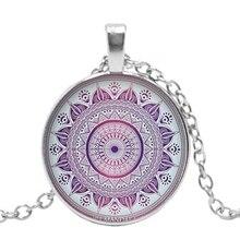 Fashion 2019 New Handmade Necklace Mandala Buddhist Kaleidoscope Glass Pendant Personalized Gift